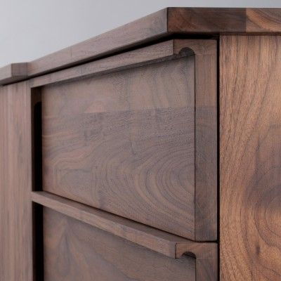 Madera lisa y color claro.   Pullman Walnut Credenza | Schoolhouse Electric & Supply Co.