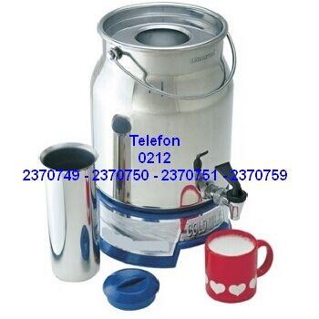 Soğuk Süt Güğümü Süt Termosu Cool Milk Vessel Thermos Satış Telefonu 0212 2370750 Sütü soğuk tutmaya yarayan çift cidarlı paslanmaz çelik termos fiyatları 0212 2370749