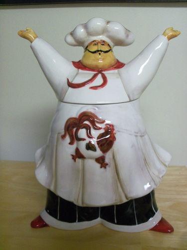 Chef Cookie Jar (Brand New In Box) Made by Jennifer Garant & 50 best dinnerware images on Pinterest | Chefs Fat chef kitchen ...