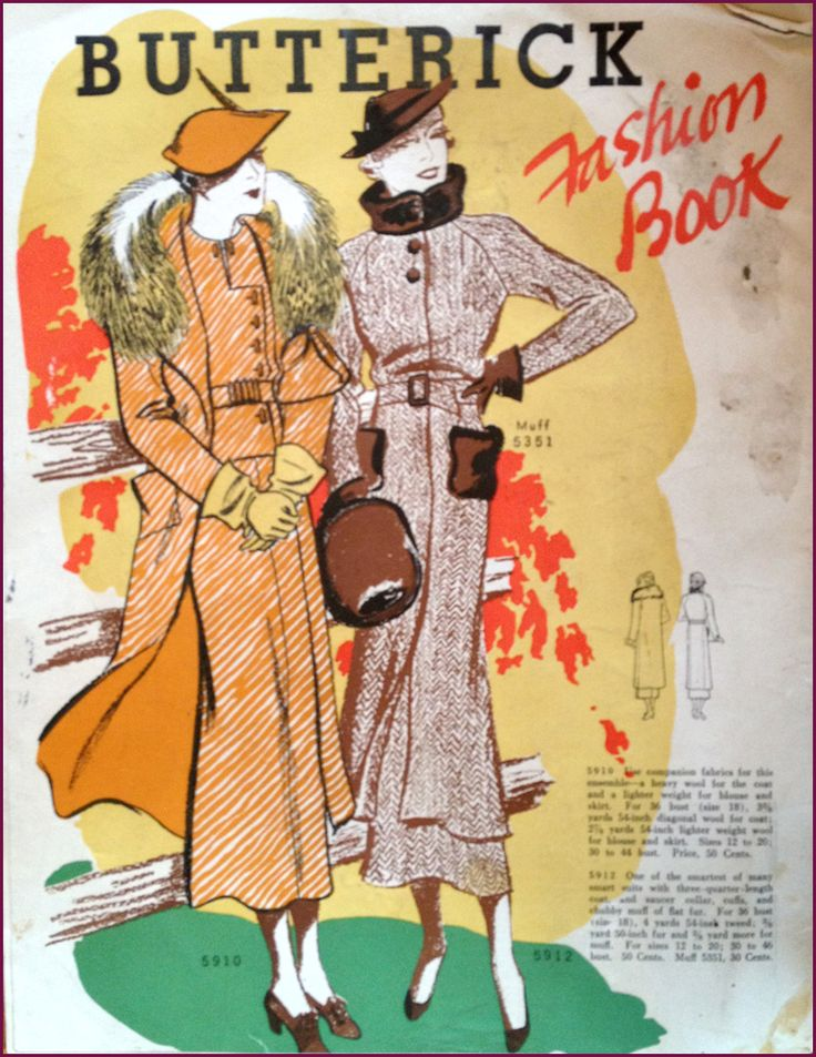 Butterick Fashion Book, Winter 1934 Featuring Butterick