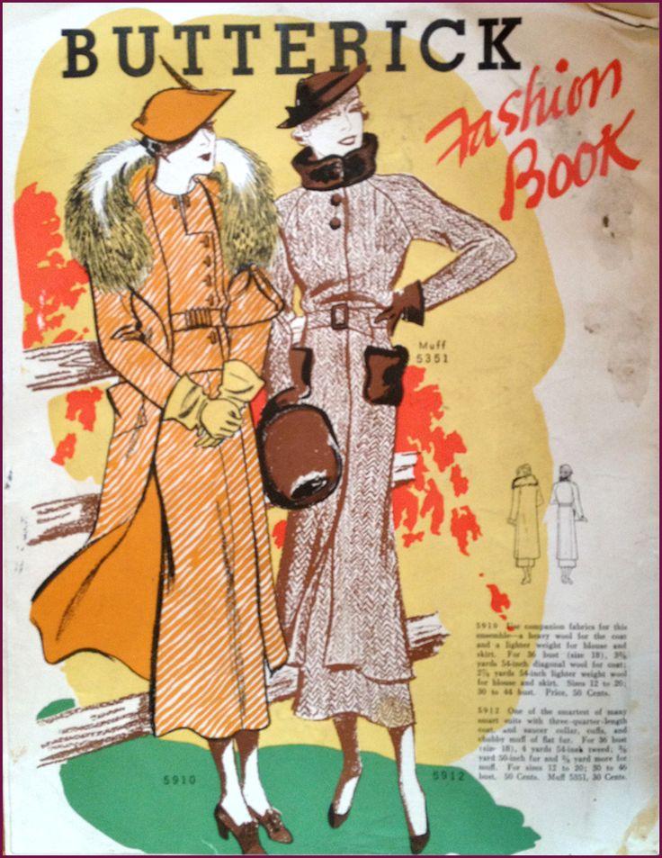 Fashion Books 2017: Butterick Fashion Book, Winter 1934 Featuring Butterick