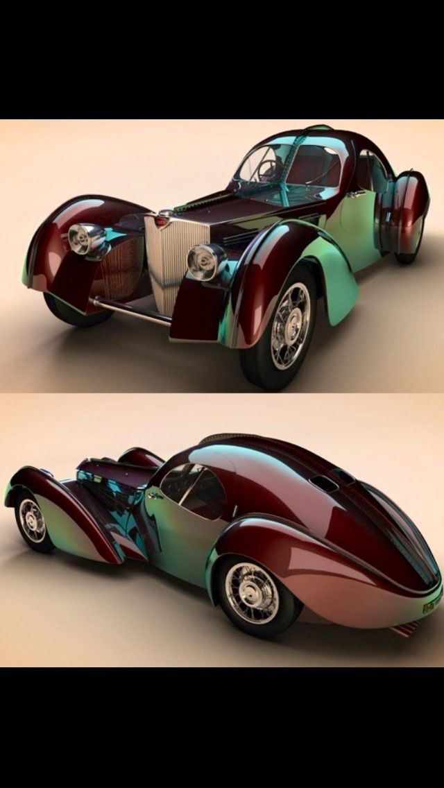 1938 Bugatti Type 57sc Atlantic -- Hard to believe this is a real car, it looks surreal