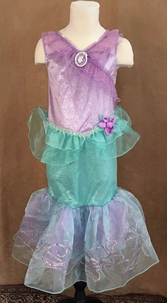 5/6 Disney Store Ariel Princess costume outfit Little Mermaid dress deluxe #Disney #CompleteOutfit
