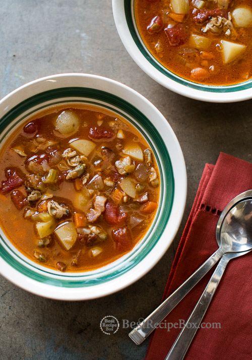 30 minute Manhattan Clam Chowder Recipe on @bestrecipebox and BestRecipeBox.com