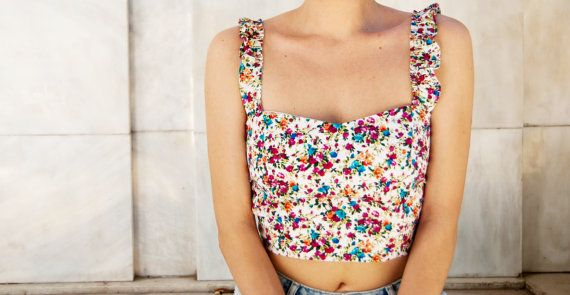 FLORENCE top Bustier top. Sweetheart by StitchesAndLoopsShop