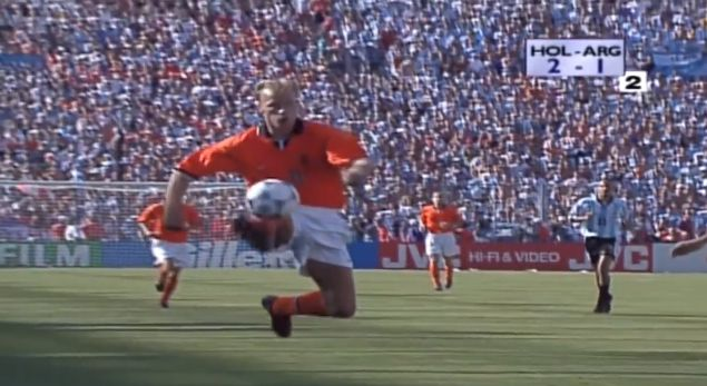 Dennis Bergkamp, Holland - Argentina World Cup 1998 https://www.youtube.com/watch?time_continue=4&v=azUgsIkBGYc