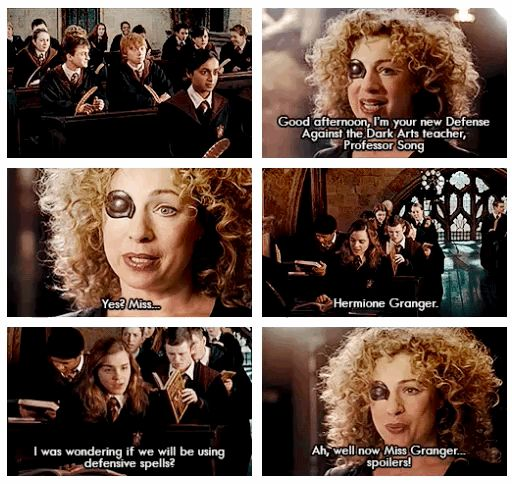 River Song, the new Defense Against the Dark Arts teacher   34 Amazing Crossovers You Wish Were Real