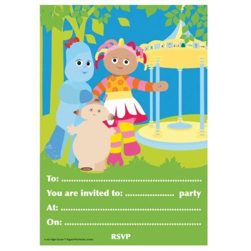 """In the Night Garden Party Invitations, pad of 20, with envelopes""…"