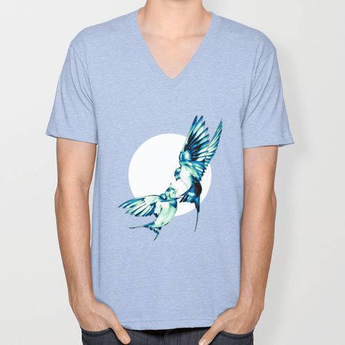 Birds V-neck T-shirt by Nuam   Society6  ☀ ☀ ☀    #Bird, #Vector, #Swallow, #Spring, #Nature, #Birds, #Animal, #Animals, #Illustration, #Love, #Family, #Trust, #Feed, #Food, #Hipster, #Swallows, #Care, #Fly, #Spring, #Wings, #TwoBirds, #Romantic, #Bohemian, #Fly, #Flying #FlyingBird, #FlyingBirds #Decorative #tee #tshirt #vneck #clothing #newstyle #fresh #tanktop #summer #summerware