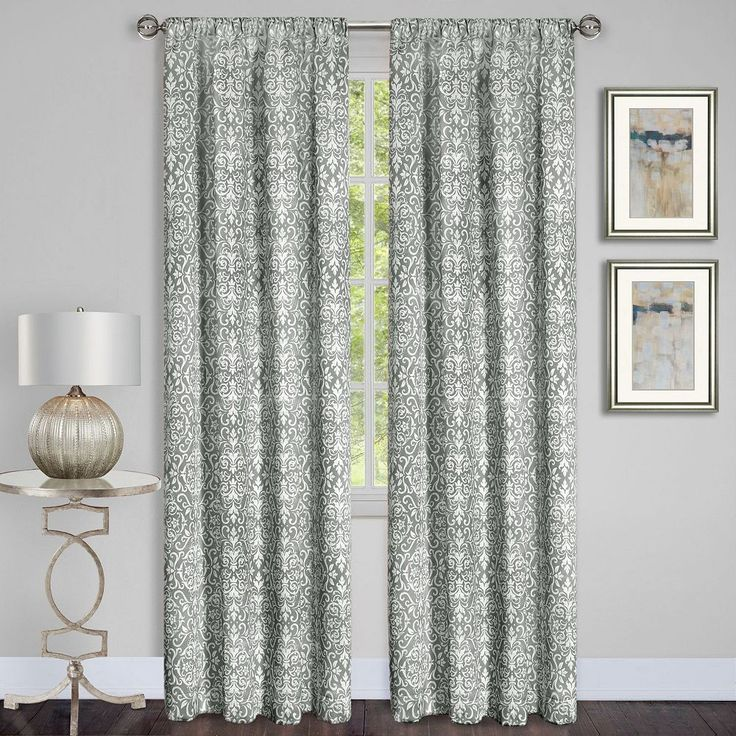 Achim Madison Room Darkening Curtain, Grey