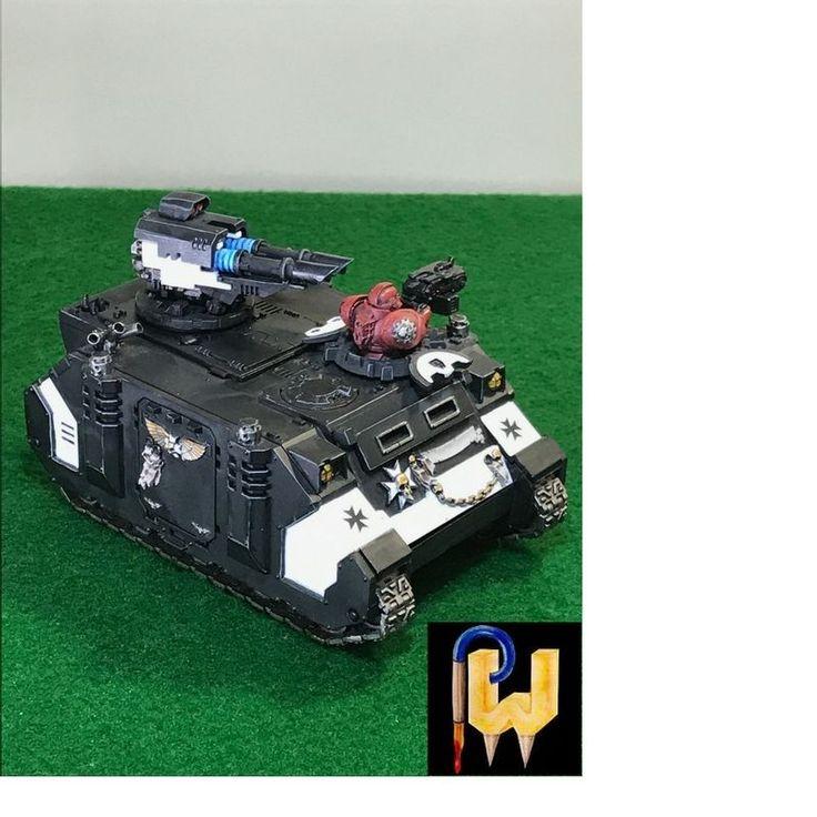 Warhammer 40K Army Black Templars Space Marines Razorback Tank Painted