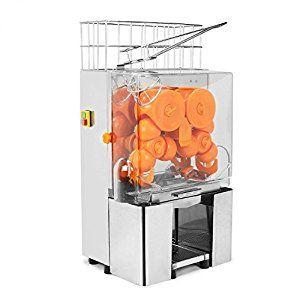 VEVOR Orange Juicer Commercial Auto Feed Orange Juicer Squeezer 120W Orange Juice Machine Squeeze 20-22 Oranges per Mins Stainless Steel Case by VEVOR
