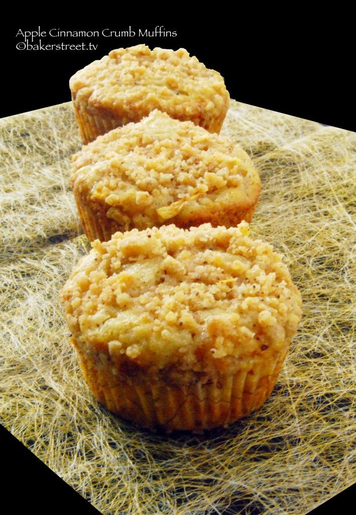 Apple Cinnamon Crumb Muffins.~~~~~This is one fabulous muffin, and with apple season around the corner.... who needs a reason to bake
