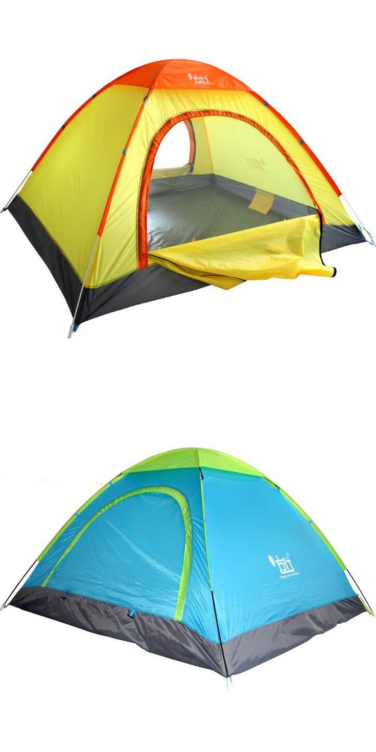 [Visit to Buy] Outdoor Camping tent 4 person tarp beach tent sun shelter tents camping family ultralight fishing gazebo quick automatic opening #Advertisement