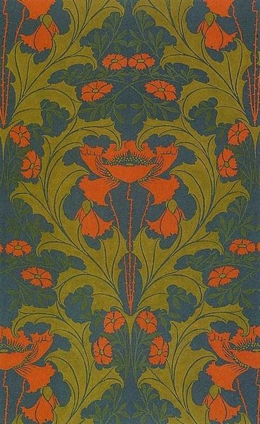 Textile design by Harry Napper 1899