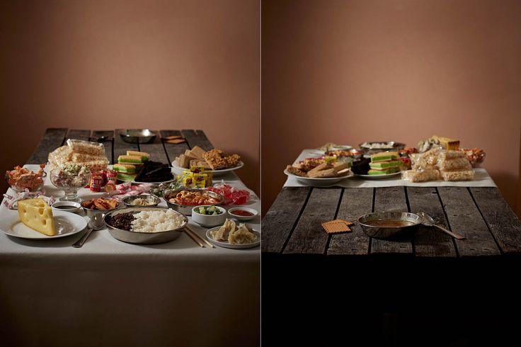 富裕層と貧困層の食事を並べてみた 「持てる者と持たざる者」の目に余る格差(画像)DPRK