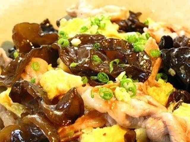 ■中華常菜・豚肉ときくらげの卵炒め■の画像