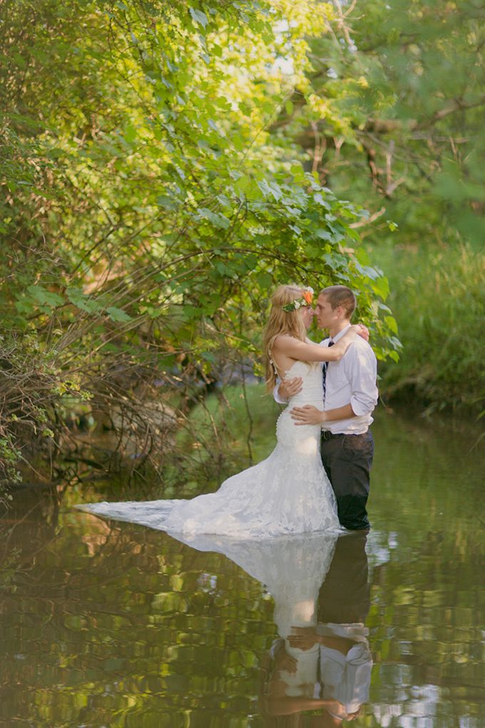"Would you ever do a ""trash the dress"" photo session? If so...these photos might inspire!"