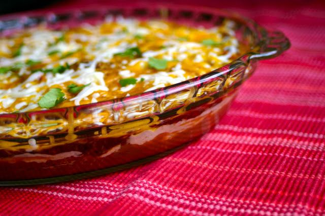 My Retro Kitchen: Warm Layered Mexican Dip