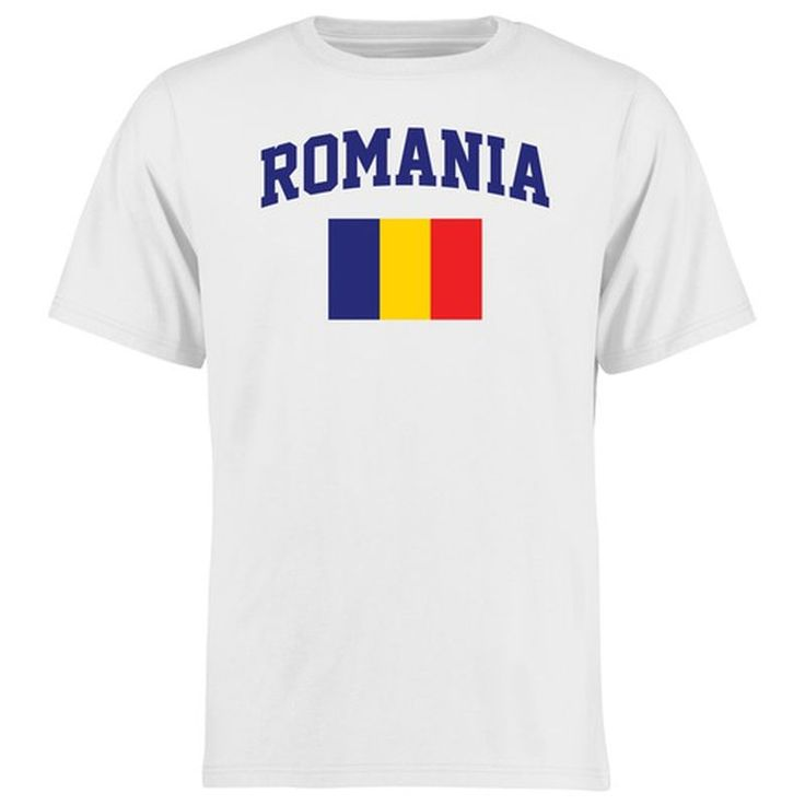 Romania Flag T-Shirt - White