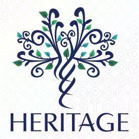 Heritage Gene tree logo