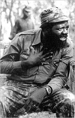 Dr Jonas Savimbi. Leader of UNITA (National Union for the Total Independence of Angola), An Anti-Communist, American and Apartheid South African backed organization during the Angolan civil war.