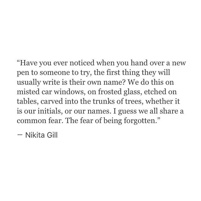 The fear of being forgotten. She is one of my favourite poets of all time. <<< Don't tell me I'm wrong, America, I've been here before you.