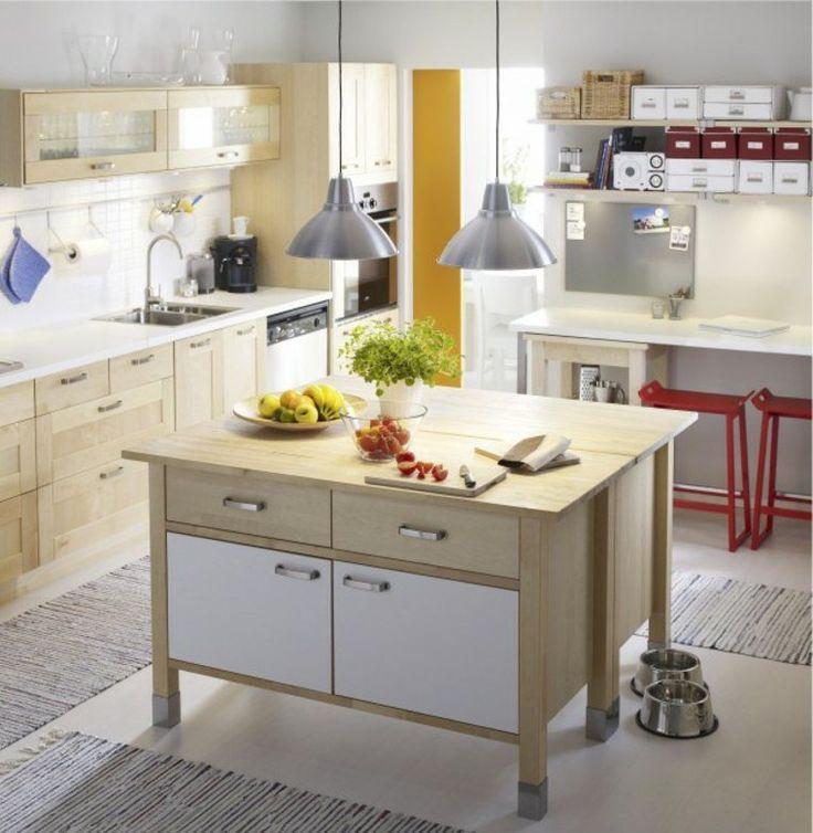 cuisine moderne ikea ide ilot central bois design luminaire suspendu moderne tapis de sol - Ilot De Cuisine Ikea