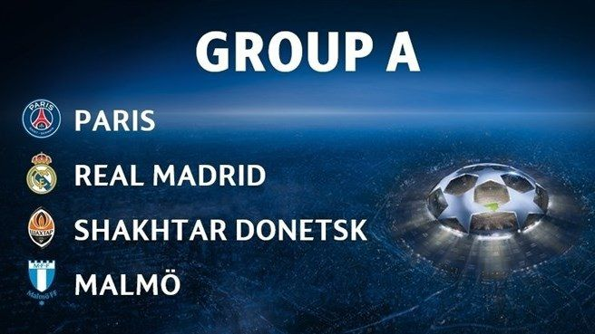 UCL 15/16 preview / Group A : Paris SG, Real Madrid, Shakhtar, Malmo