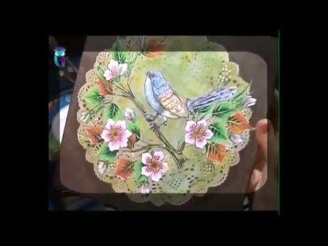 Роспись в технике одного мазка (One Stroke). Рисуем птицу. Мастер класс. Наташа Фохтина - YouTube