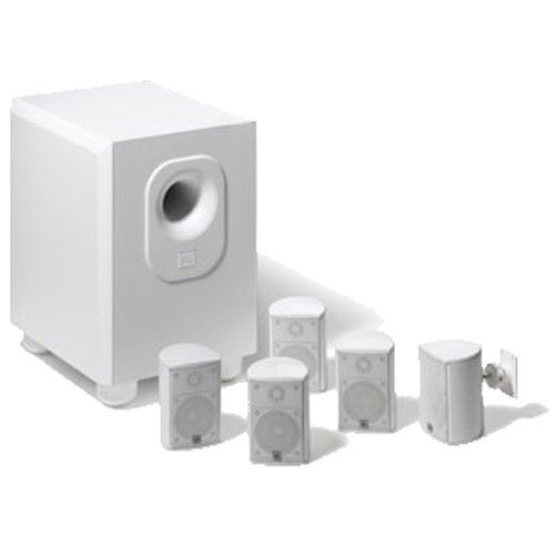 Home Theater Systems - Leviton AEH50-WH Architectural Edition Powered By JBL 5-Channel Surround Sound Home Cinema Speaker System, White