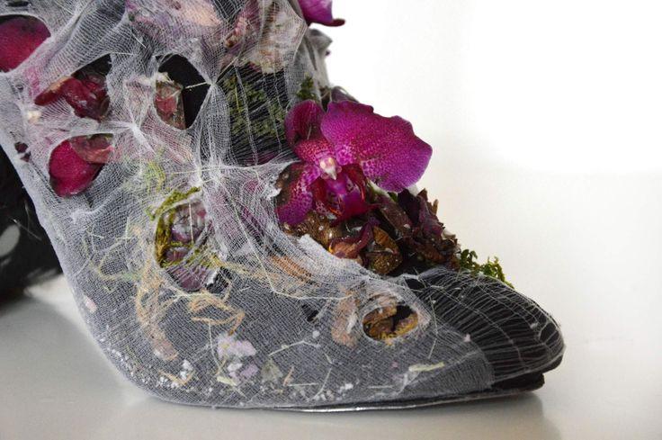 detail of shoe inspired by aleander mcqueen. designer:  Helena Kolníková
