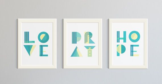 Three+Wall+Art+Prints+featuring+the+words+by+HartAndWallDesign