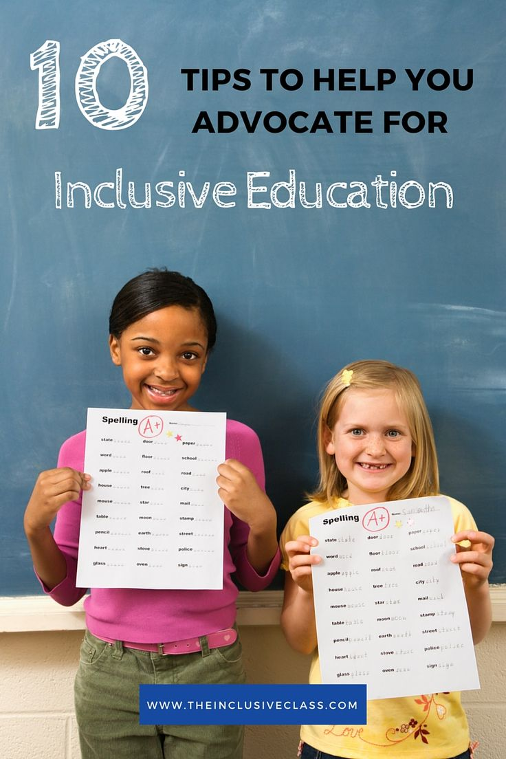10 Tips to Help You Advocate for Inclusive Education!