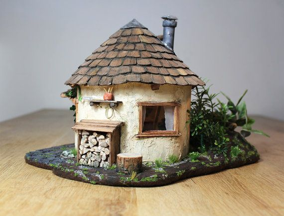 Casa de cuento de hadas / casa gnome / casa de hadas  luz de