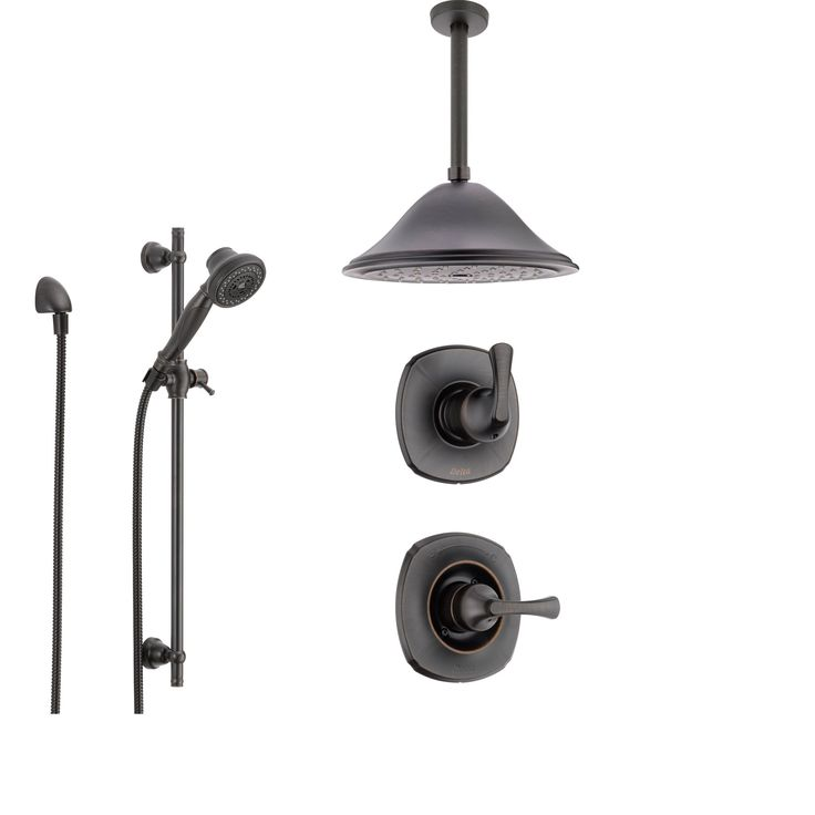 ceiling mounted rain shower head system. Delta Addison Venetian Bronze Shower System with Normal Handle  3 setting Diverter Best 25 shower head ideas on Pinterest River pebbles