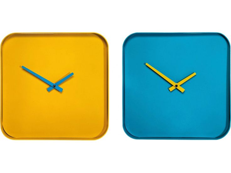 Zegar Curve żółty — Zegary i budziki Kare Design — sfmeble.pl #yellow #design #clock