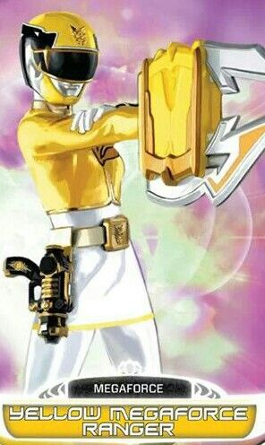 Yellow Megaforce Power Ranger