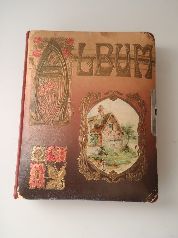 Photo Album Victorian Era / Vintage Books by FeistyFarmersWife