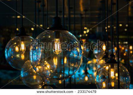 Beautiful lighting decoration on celebration night  - stock photo