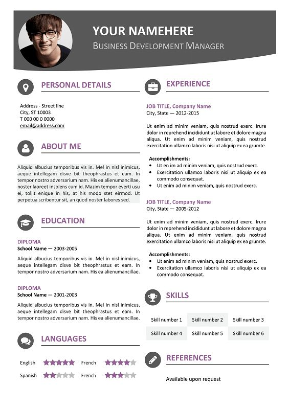 The 124 Best Images About Classic Resume Templates On Pinterest