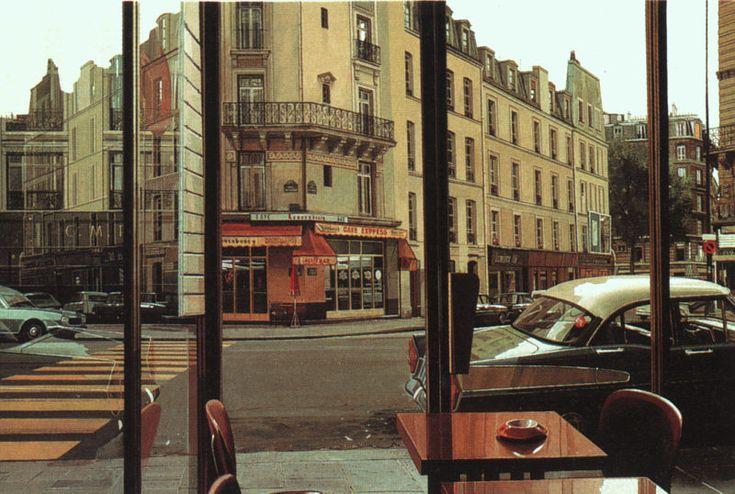 """""""Cafe Express""""  Richard Estes  1975"""