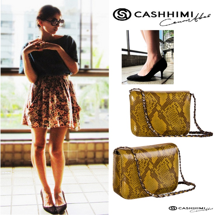 Cashhimi Brown DOWNING  Leather Clutch