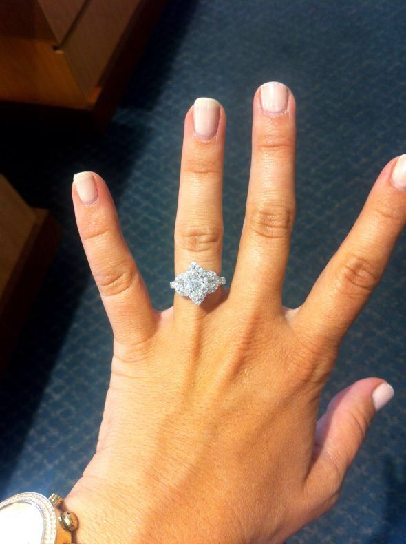 1 Carat Marquise With 50 Carat Half Moon Side Stones With