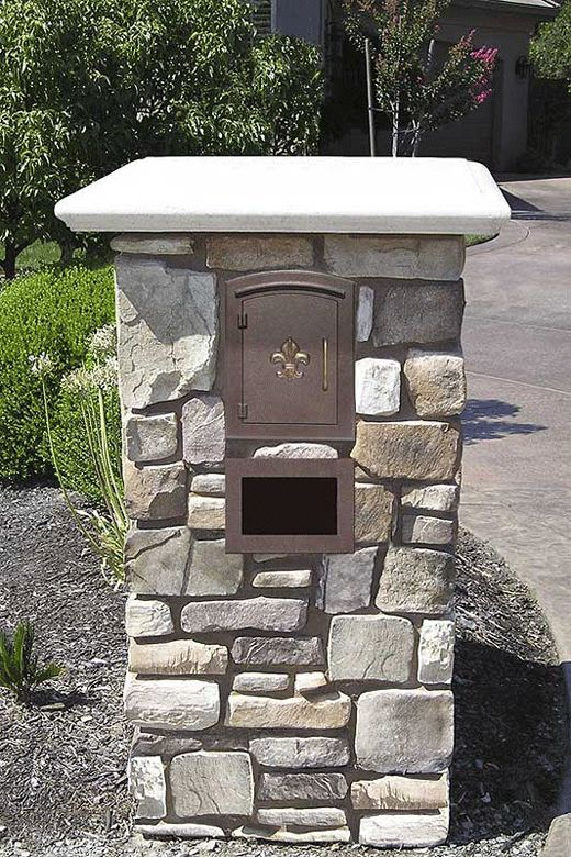 images of curbside mailboxes in stone walls | Brick Mailbox Holders http://www.getnewmailbox.com/qumacomoansc.html