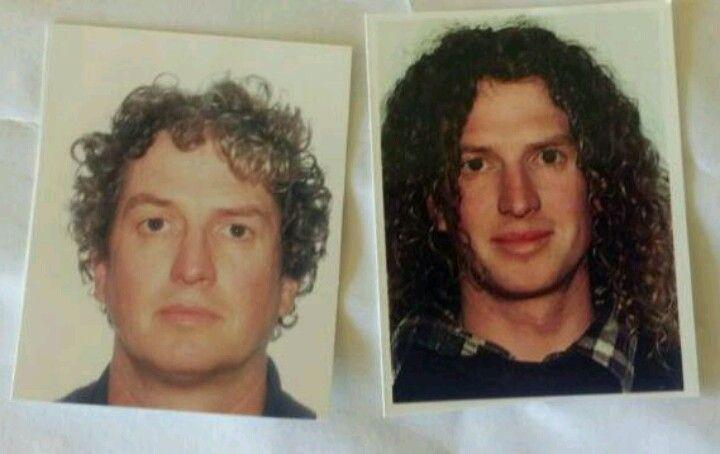 (passport photos tee hee) 12 yrs apart, Graham