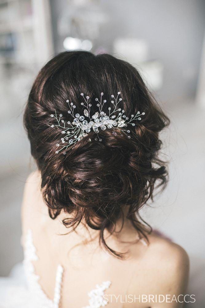 Wedding Crystal Hair Comb, Bridal Hair Comb, Crystal  Wedding Hair Comb, Crystal Hair Accessories, Bridal Crystal Comb, Bridal Hairpiece by StylishBrideAccs on Etsy