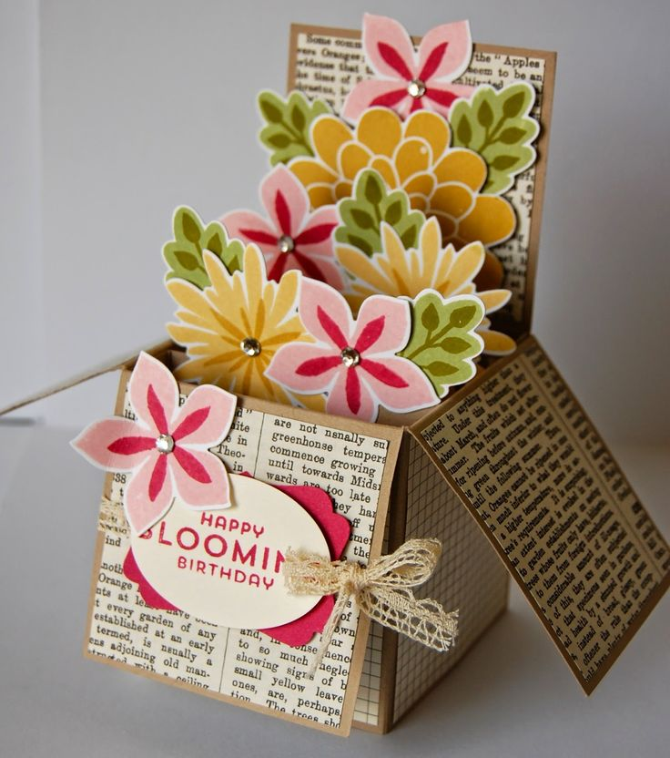 Flower Patch Card in a Box