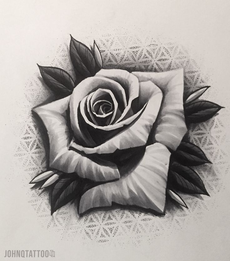 Rose design I would love to tattoo! Dotwork ros st…