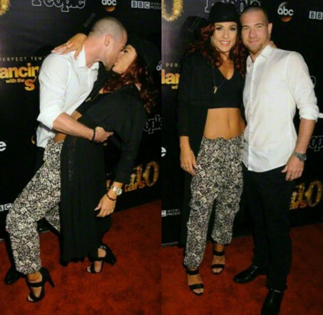 Paul Kirkland & Sharna Burgess at the DWTS 10th Anniversary Party